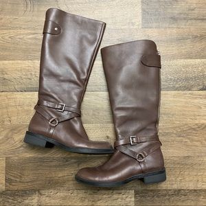 Enzo Angiolini Easaevon Brown Tall Riding Boot 7M